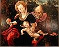 Pieter coecke van aelst e dirck jacobsz., trittico con il rposo in egitto, 03.jpg