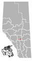 Pine Lake, Alberta Location.png