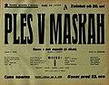 Plakat za predstavo Ples v maskah v Narodnem gledališču v Maribor 29. maja 1940.jpg