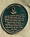 Plaque, St Agnes Lodge, High St Agnesgate - geograph.org.uk - 490545.jpg