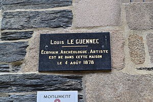 Morlaix - Louis Le Guennec was born in the Hôtel called François du Parc.