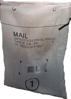 Mail sack - Plastic style United States mail sack