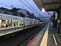 Platform of Uzumasa Station 7.jpg