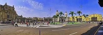 Plaza Mayor, Lima - View of the Plaza Mayor of Lima