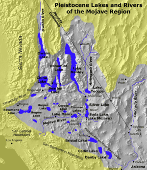Pluvial lake - Pleistocene pluvial lakes and rivers of the Mojave Desert
