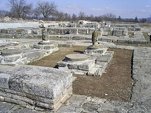 Pliska - Ruins of the early medieval city of Pliska, the first Bulgarian capital