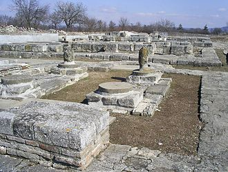 Pliska - Ruins of the early medieval city of Pliska, the first Bulgarian capital
