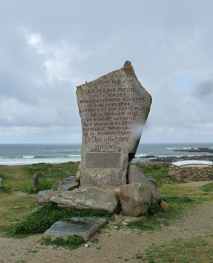 Action of 13 January 1797 - Menhir commemorating the wreck of the Droits de l'Homme