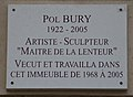 Pol Bury plaque - 236 Blvd Raspail, Paris 14.jpg