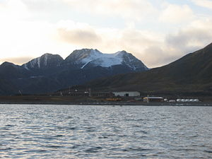 Polish Polar Station, Hornsund - view of the station from the sea