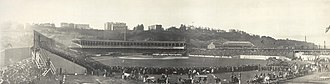 Polo Grounds - Polo Grounds c.1905. The Morris-Jumel Mansion is on the upper right on top of Coogan's Bluff