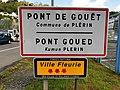 Pont de Gouët (Côtes d'Armor) panneau d'agglomération.jpg