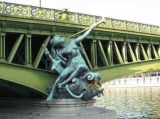 Jean Antoine Injalbert - Abundance at Pont Mirabeau, Paris