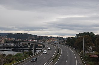 Autopista AP-9 - Image: Pontedaría