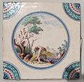 Porcellana di doccia, mattonella con scena pastorale, 1780 ca., 15x15 cm, coll. priv. 02.JPG