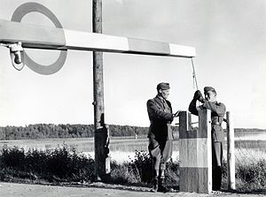 Porkkala Naval Base -  Porkkala Naval Base border post