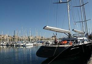 Port Vell - Image: Port Vell Rambla de Mar 16