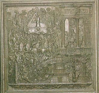 Roman Renaissance - Filarete, the base of the porta di San Pietro