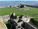 Portchester Castle outer bailey from the keep, 2010.jpg