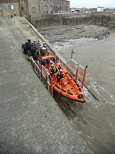 Porthcawl Lifeboat launch, May 2011.jpg