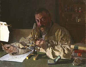 Joaquín Sorolla - Portrait of Dr Simarro at the microscope, 1897, (Luis Simarro Legacy Trust, Fundación General, Complutense University)