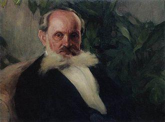 Igor Grabar - Portrait of Emmanuil Hrabar by Igor Grabar, 1895.