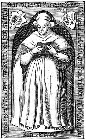 Katharina von Bora - Portrait of Katharina von Bora as a nun (1699)
