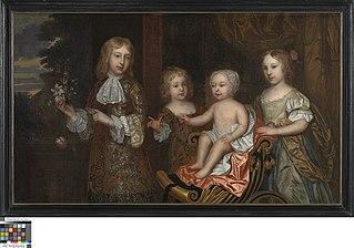 Portret van vier kinderen