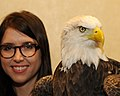 Posing for picture with Bald Eagle. (10596832663).jpg