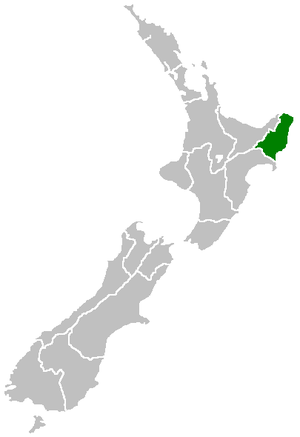 Gisborne District - Image: Position of Gisborne Region