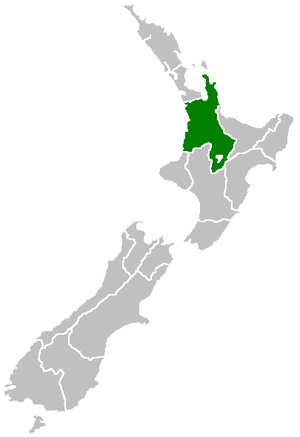 Waikato - Image: Position of Waikato Region