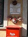 Postmaster plaque on post office, 2017 Törökbálint.jpg