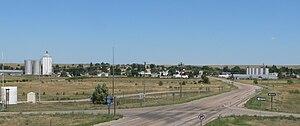 Potter, Nebraska - Potter seen from Exit 38 on Interstate 80