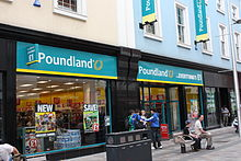 Exterior view of a Poundland store