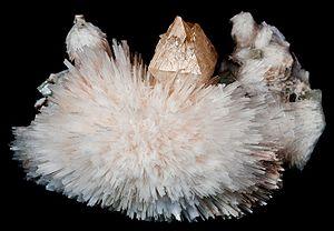 Scolecite - Cluster of scolecite needles