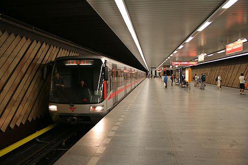 Nádraží Holešovice station on the Prague Metro