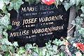 Praha, hřbitov Malvazinky, hrob Miluše Voborníkové (2).jpg