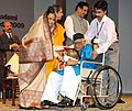 Pratibha Devisingh Patil presenting the Sangeet Natak Akademi Award-2009 to Shri Abdul Rashid Khan for his outstanding contribution to Hindustani Vocal Music.jpg