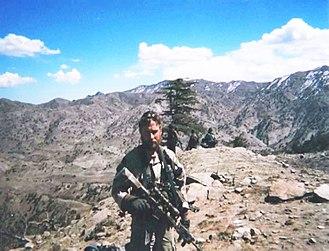 Britt K. Slabinski - Britt Slabinski on Roberts Ridge (Takur Ghar) in March 2002