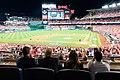 President Trump at the World Series Game (48975696912).jpg