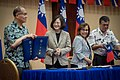 President Tsai Ing-wen (second left) and Marshall Islands President Hilda C. Heine are joined by Minister of Foreign Affairs David Tawei Lee (left) and Minister of Foreign Affairs and Trade John M. Silk on 30 October 2017.jpg