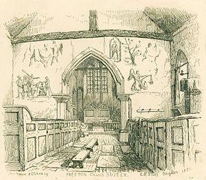 Preston Village, Brighton - Image: Preston Church, Sussex, R. H. Nibbs