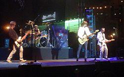 Les Pretenders se produisent à Dubaï, février 2007