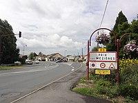 Prix-lès-Mézières (Ardennes) city limit sign.JPG