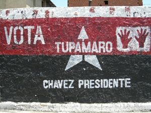 Tupamaro (Venezuela) - Tupamaros political art showing support for Hugo Chávez.