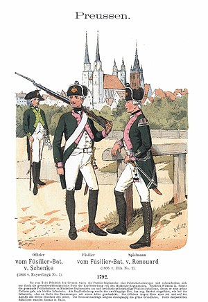 Fusilier - Fusiliers of the Prussian Army in the 18th century