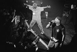 Public Enemy performing in 2000