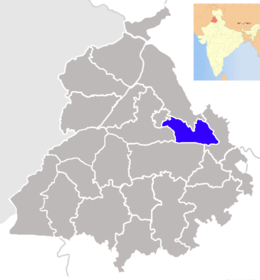 Punjab Shahid Bhagat Singh Nagar district map.png