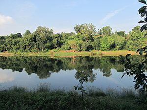 Purna River (Gujarat) - Purna River view from Mahal Campsite