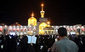 Laylat al-Qadr - Image: Qadr night in Imam Reza Shrine